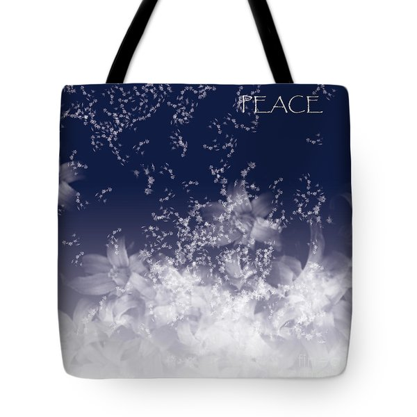 Tote Bag featuring the digital art Peace by Trilby Cole