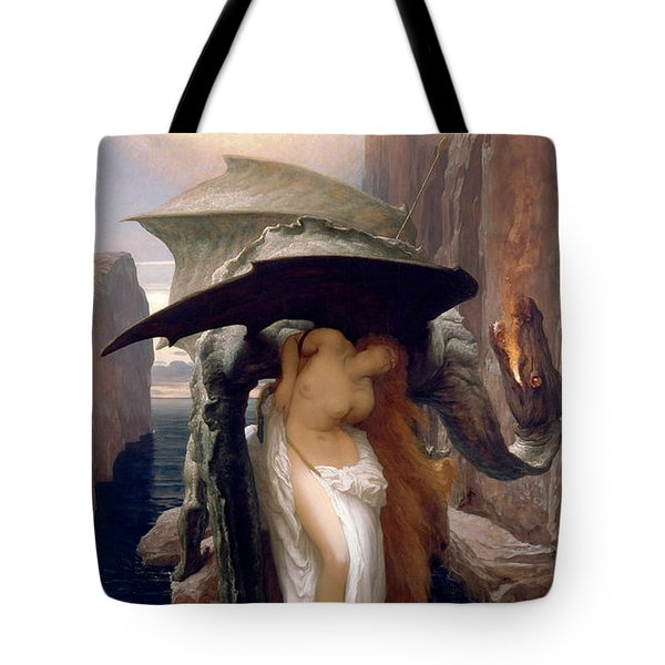 Perseus And Andromeda Tote Bag by Frederic Leighton