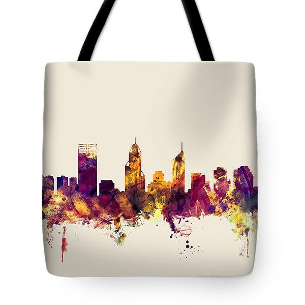 Perth Australia Skyline Tote Bag