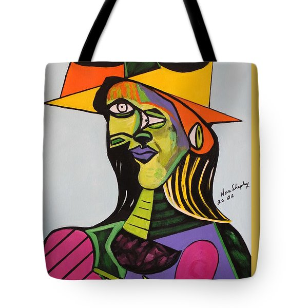 Picasso By Nora Tote Bag by Nora Shepley