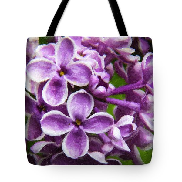 Pink Flowers Tote Bag by Andre Faubert