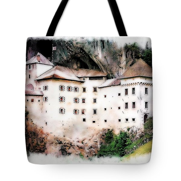 Tote Bag featuring the photograph Predjama Castle, Predjama Slovenia by Joseph Hendrix