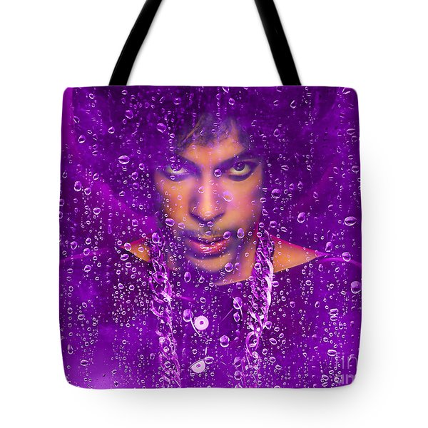 Prince Purple Rain Tribute Tote Bag by Marvin Blaine