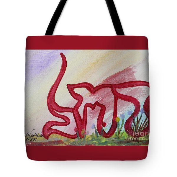 Tote Bag featuring the painting Rachel Nf15-162 by Hebrewletters Sl