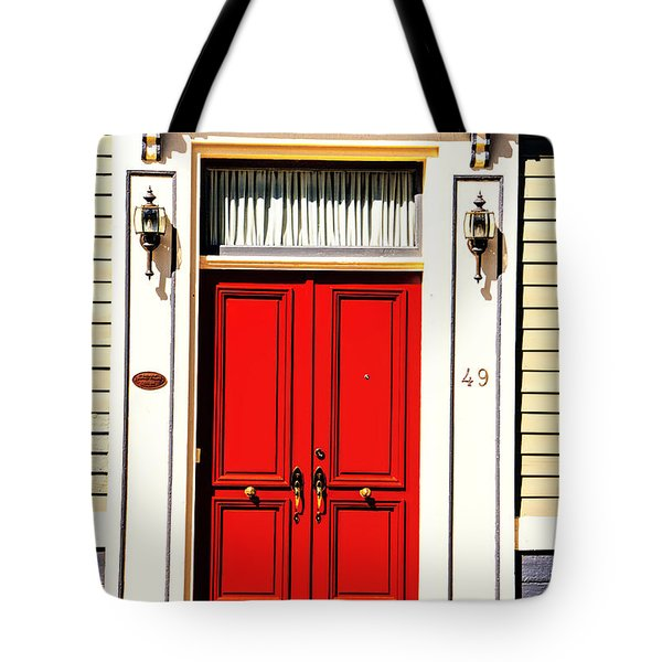 Tote Bag featuring the photograph Red Door by Rick Bragan