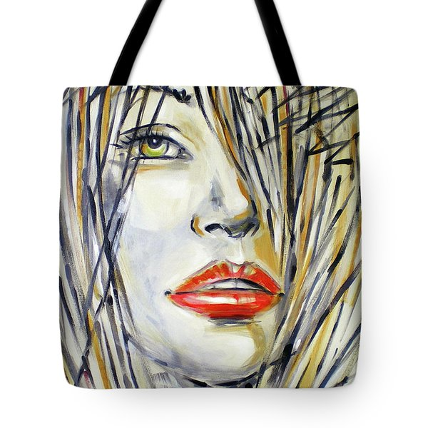 Red Lipstick 081208 Tote Bag by Selena Boron