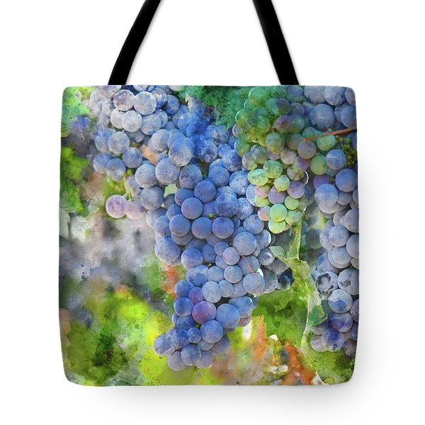 Red Wine Grapes On The Vine Tote Bag