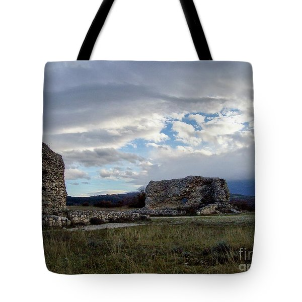 Tote Bag featuring the photograph Roman Ruins by Judy Kirouac