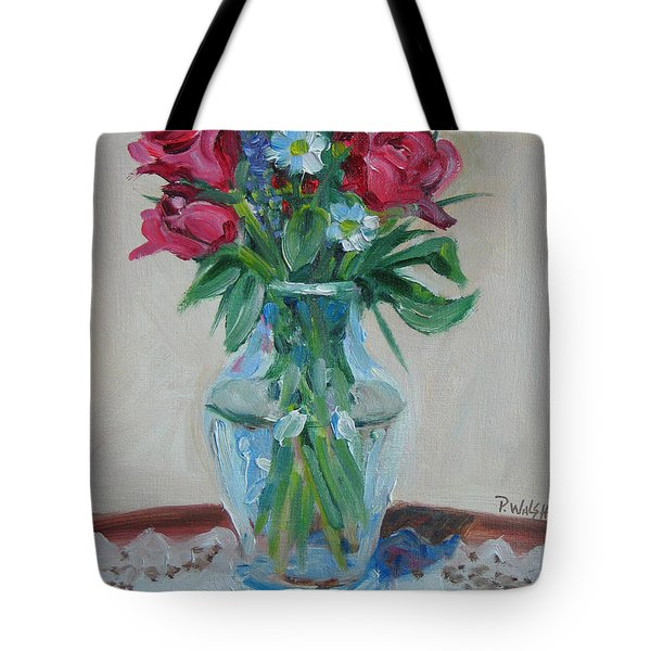 3 Roses Tote Bag by Paul Walsh