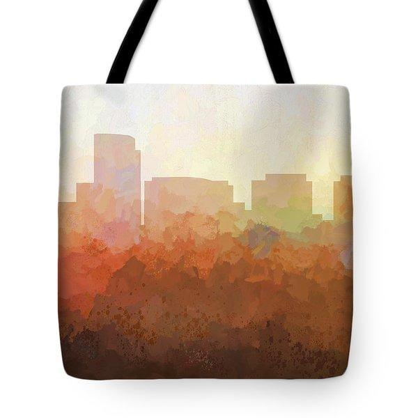 Tote Bag featuring the digital art Rosslyn Virginia Skyline by Marlene Watson