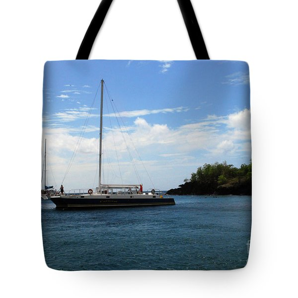 Tote Bag featuring the photograph Sail Boat by Gary Wonning