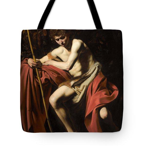 Saint John The Baptist In The Wilderness Tote Bag
