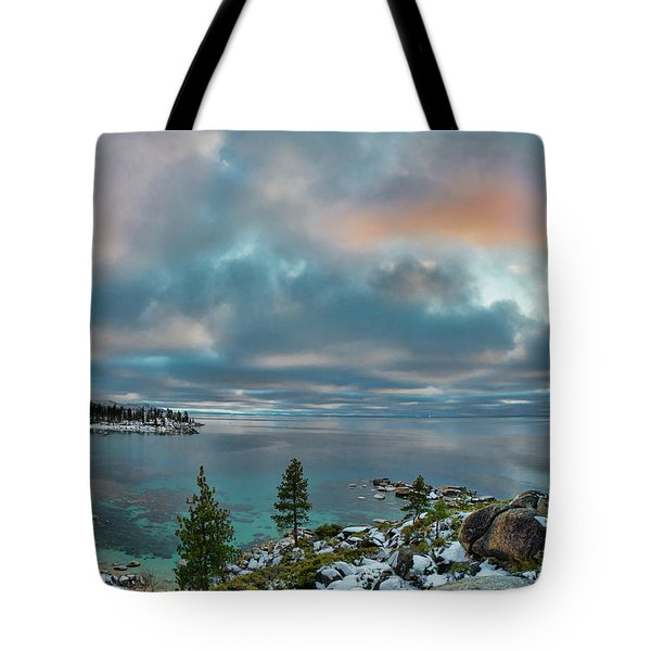 Sand Harbor Sunset Tote Bag