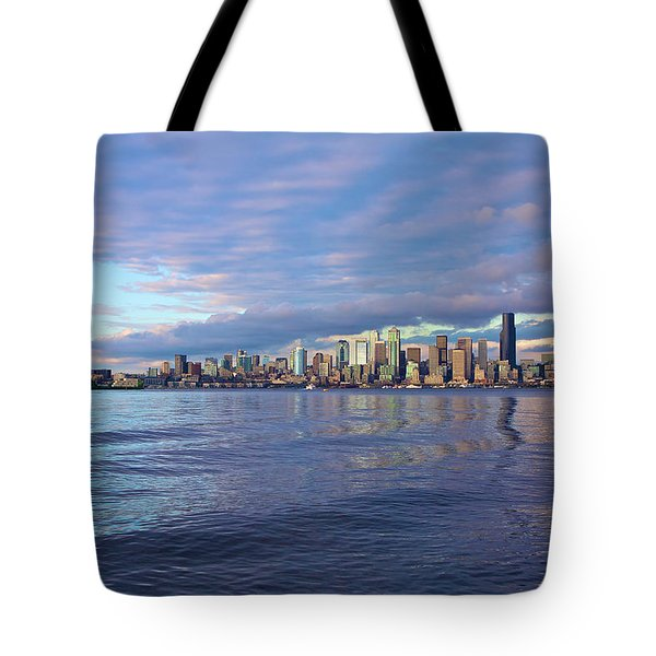 Seattle Skyline Cityscape Tote Bag