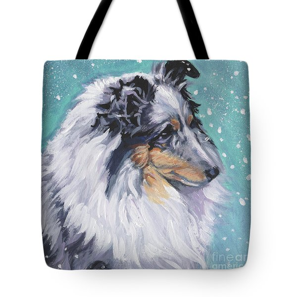 Tote Bag featuring the painting Shetland Sheepdog by Lee Ann Shepard