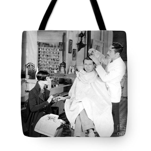 Silent Still: Barber Shop Tote Bag by Granger