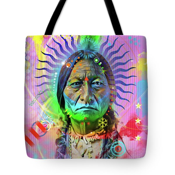 Sitting Bull Tote Bag by Gary Grayson
