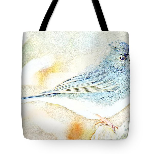 Slate-colored Junco, Snowbird, Male, Animal Portrait Tote Bag