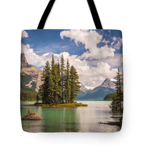 Tote Bag featuring the photograph Spirit Island by Mark Mille