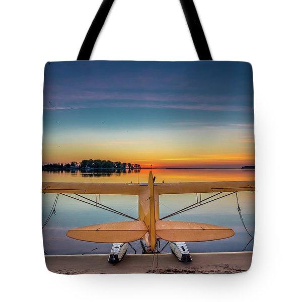 Splash-in Sunrise  Tote Bag