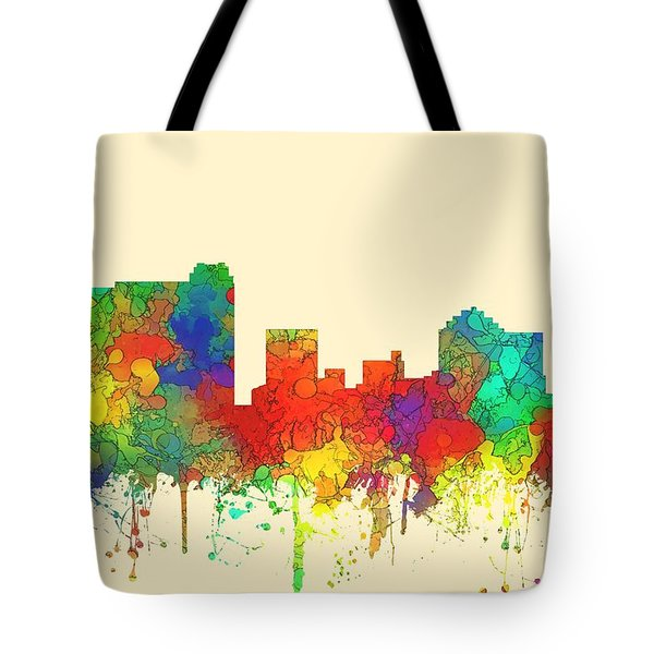 St Petersburg Florida Skyline Tote Bag