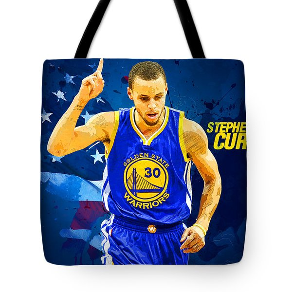 Stephen Curry Tote Bag by Semih Yurdabak