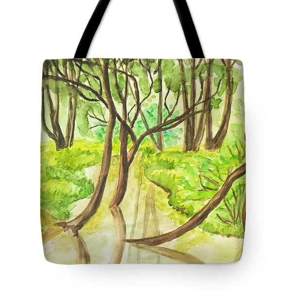 Summer Landscape, Painting Tote Bag