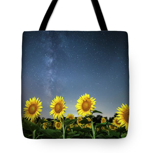 Sunflower Galaxy Iv Tote Bag