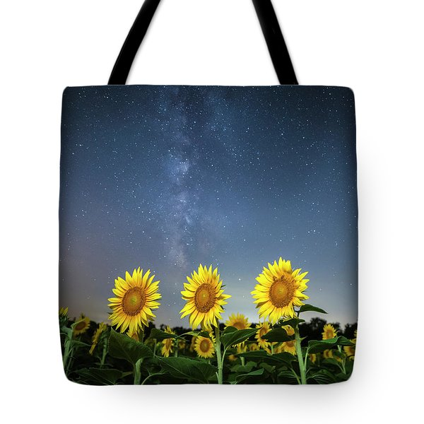 Sunflower Galaxy Iv Tote Bag