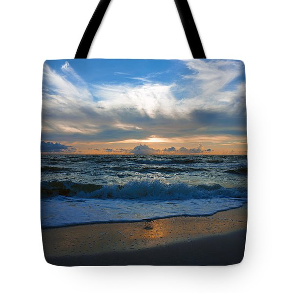 Sunset At Delnor-wiggins Pass State Park Tote Bag