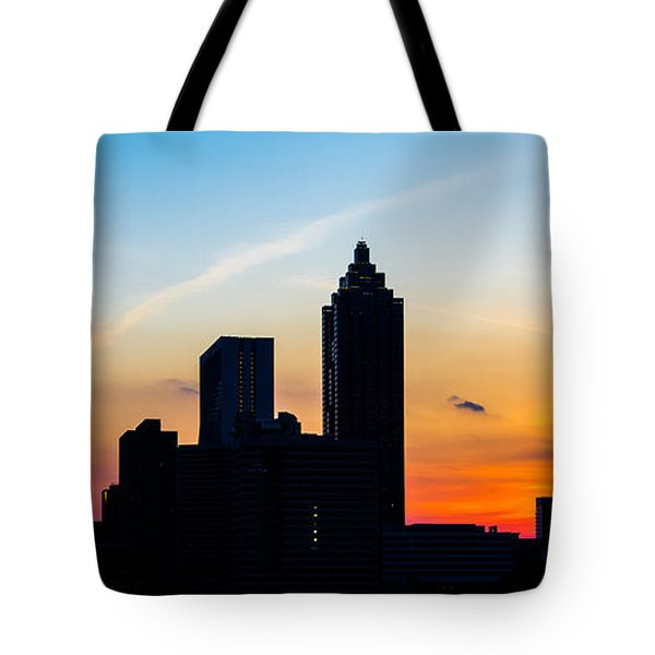 Sunset In Atlanta Tote Bag