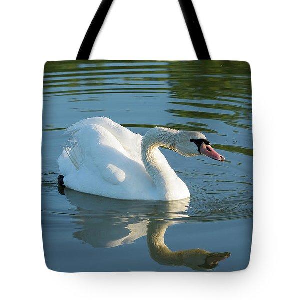 Swan Reflection Tote Bag