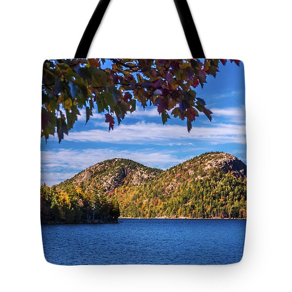 The Bubbles And Jordan Pond. Tote Bag