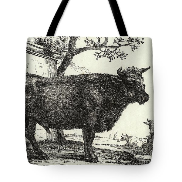 The Bull Tote Bag by Paulus Potter