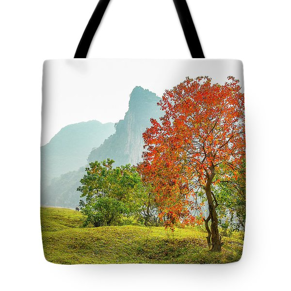 The Colorful Autumn Scenery Tote Bag