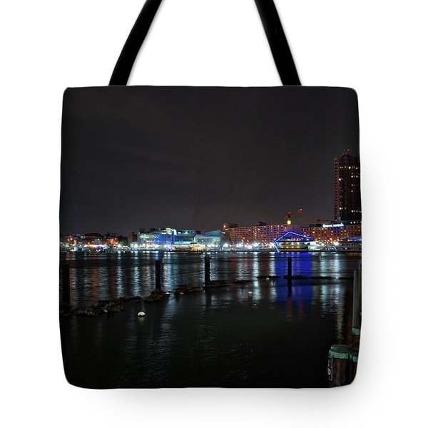 Tote Bag featuring the photograph The Harbor View by Mark Dodd