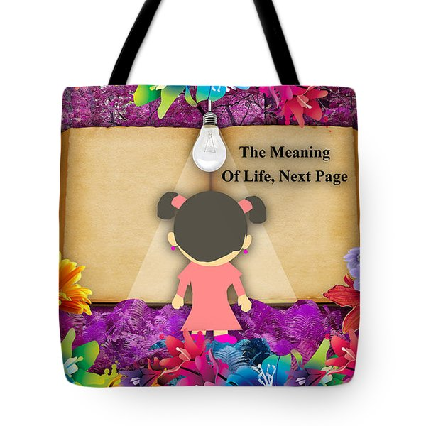 The Meaning Of Life Art Tote Bag by Marvin Blaine