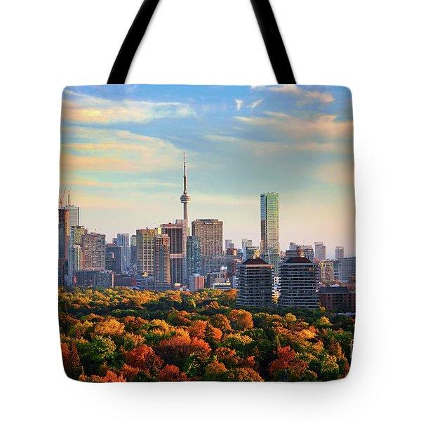 Toronto Autumn Tote Bag by Charline Xia