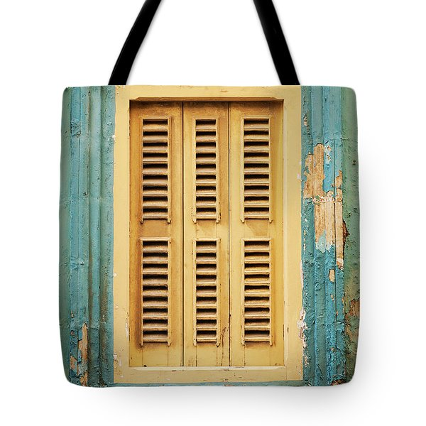 Traditional House Window Architecture Detail La Valletta Old Tow Tote Bag