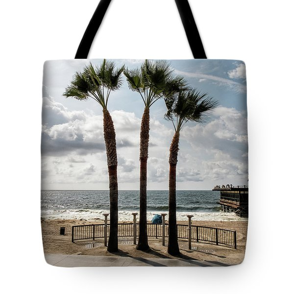 Tote Bag featuring the photograph 3 Trees by Eric Lake