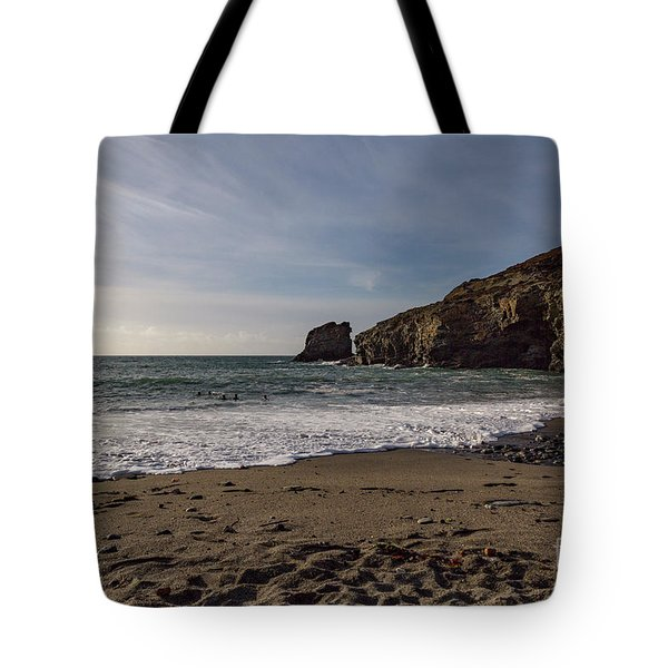 Tote Bag featuring the photograph Trevellas Cove Cornwall by Brian Roscorla