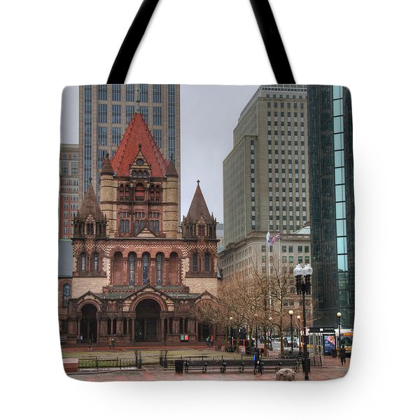 Tote Bag featuring the photograph Trinity Church - Copley Square - Boston by Joann Vitali