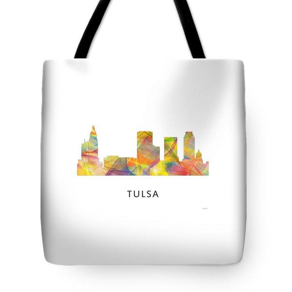 Tulsa Oklahoma Skyline Tote Bag