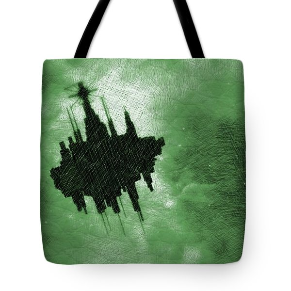 Ufo In Space Tote Bag
