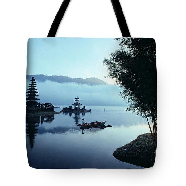 Ulu Danu Temple Tote Bag by William Waterfall - Printscapes
