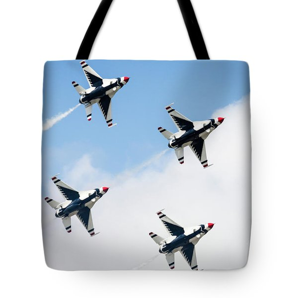 Usaf Thunderbirds Tote Bag by Lawrence Burry