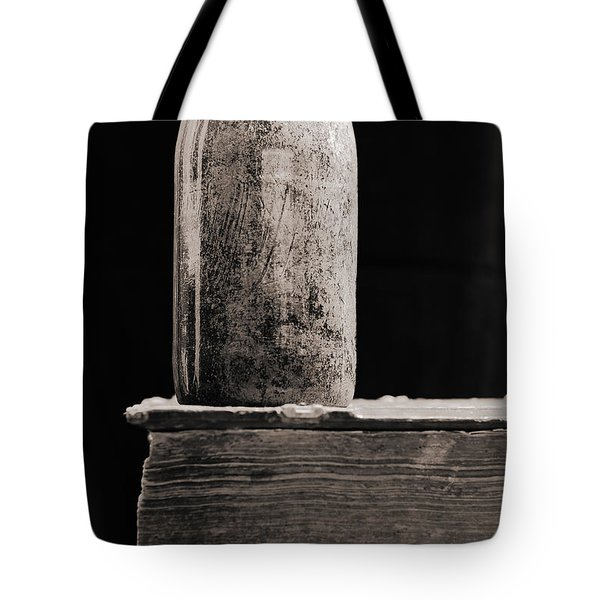 Tote Bag featuring the photograph Vintage Beer Bottle #00803 by Andrey  Godyaykin
