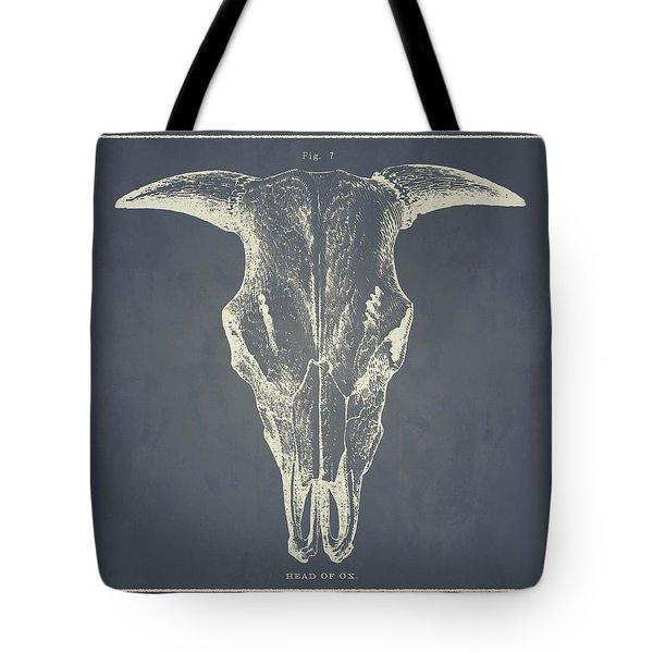 Vintage Ox Head Tote Bag