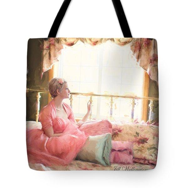 Vintage Val Bedroom Dreams Tote Bag
