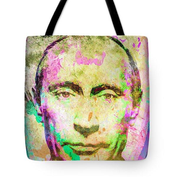 Vladimir Putin Tote Bag by Svelby Art